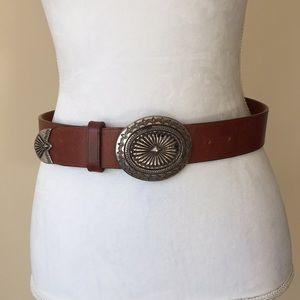 Brighton Leather Buckle Belt